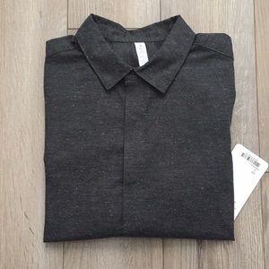 lululemon athletica Shirts - Lululemon City Slate SS Buttondown in black